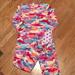 Circo girls multi-colored fleece one piece pajama